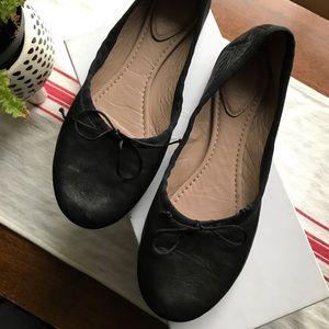 Chloe Black Leather Ballet Ballerina Flats - 37